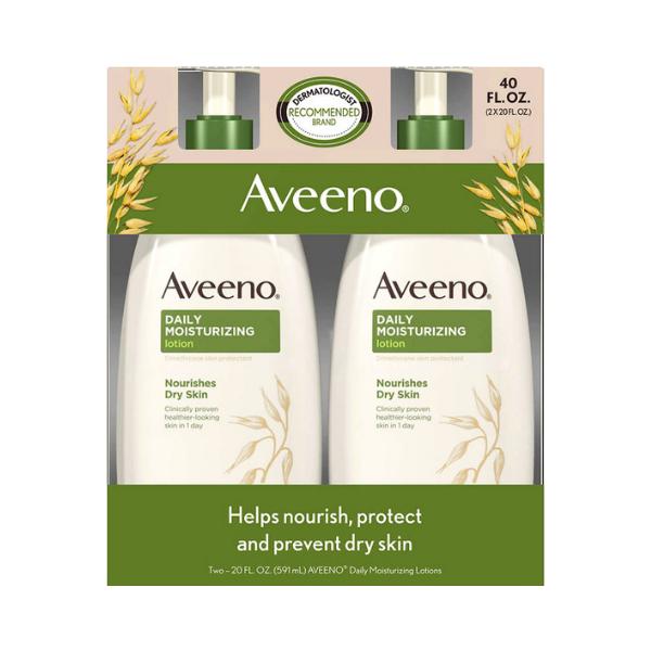 Lotion hydratante quotidienne Aveeno (Pack de 2 lotions de 600 ml chacune)