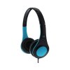 Casque Stereo Bleu Filaire, Arceau Ajustable TNB