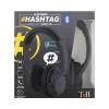 Casque Bluetooth Hashtag Noir Sans Fil TNB